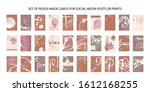 set of ready made art cards ... | Shutterstock .eps vector #1612168255