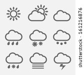 Meteorology Weather Icons With...