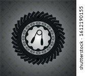 hand gripper icon inside black... | Shutterstock .eps vector #1612190155