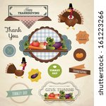 thanksgiving day and harvest... | Shutterstock .eps vector #161223266