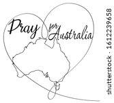 pray for australia with heart... | Shutterstock .eps vector #1612239658