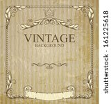 vintage frame with branches and ... | Shutterstock .eps vector #161225618