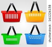 shopping basket vector set | Shutterstock .eps vector #161226158