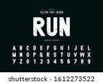 texture font and alphabet... | Shutterstock .eps vector #1612273522