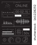 retro infographics set.... | Shutterstock .eps vector #161228252