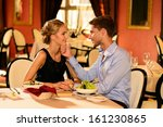 young beautiful couple in love... | Shutterstock . vector #161230865