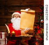 Santa Claus In Wooden Home...
