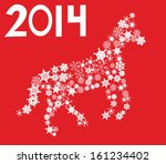 vector horse made of snowflakes    Shutterstock .eps vector #161234402