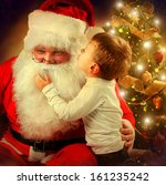 Santa Claus And Little Boy....