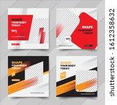 fitness web banner template.... | Shutterstock .eps vector #1612358632