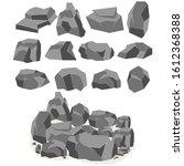 a set of cartoon stones and...   Shutterstock . vector #1612368388