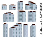 a set of minimal apartment...   Shutterstock . vector #1612382818