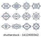 geometric labels. geometrical... | Shutterstock . vector #1612400362