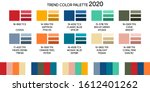 fashion color trend winter 2019 ... | Shutterstock .eps vector #1612401262
