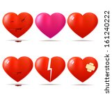 collection of glossy hearts | Shutterstock . vector #161240222