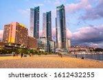 Busan City Skyline View At...
