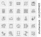 25 universal icons vector... | Shutterstock .eps vector #1612459405