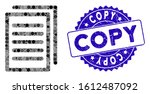 mosaic copy icon and grunge...   Shutterstock .eps vector #1612487092