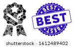 mosaic best tobacco icon and... | Shutterstock .eps vector #1612489402