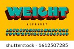 extra heavy 3d alphabet design... | Shutterstock .eps vector #1612507285