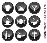 food and restaurant icons... | Shutterstock .eps vector #161251178