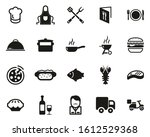 Catering Business Icons Black   ...