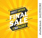 gray sale banner template... | Shutterstock .eps vector #1612552282