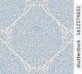 french blu shabby chic damask... | Shutterstock .eps vector #1612574632