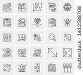 25 universal icons vector... | Shutterstock .eps vector #1612588708