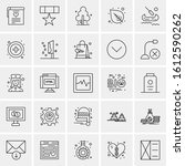 25 universal icons vector...   Shutterstock .eps vector #1612590262
