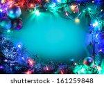 christmas frame with fir ...