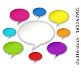 colorful chat bubbles... | Shutterstock . vector #161262902