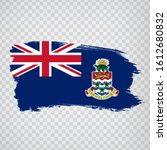 flag cayman islands  from brush ...