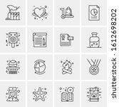 16 business universal icons... | Shutterstock .eps vector #1612698202