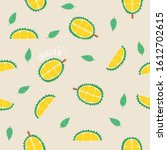 background durian  sweet color... | Shutterstock .eps vector #1612702615