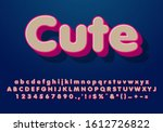 3d cute text style effect | Shutterstock .eps vector #1612726822