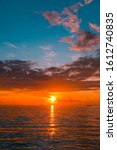 Vertical Sunset Scenery Of...