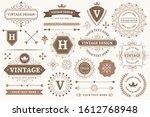 vintage sign borders. elegant... | Shutterstock . vector #1612768948