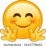 emoji emoticon smiling with... | Shutterstock .eps vector #1612778602