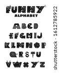 scandinavian alphabet baby... | Shutterstock .eps vector #1612785922