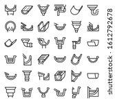 gutter icons set. outline set... | Shutterstock .eps vector #1612792678