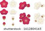 illustration of cute plum... | Shutterstock .eps vector #1612804165