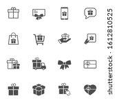 gift box vector icon set...