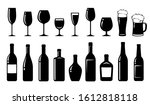 restaurant alcohol set of... | Shutterstock . vector #1612818118