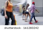 people shopping in the city in... | Shutterstock . vector #161283242