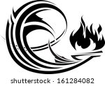 abstract element with fire for... | Shutterstock .eps vector #161284082