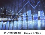 financial chart on city scape... | Shutterstock . vector #1612847818