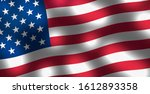 waving flag of united states of ... | Shutterstock . vector #1612893358