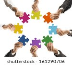 concept of teamwork and... | Shutterstock . vector #161290706