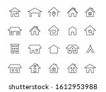 home line icons. modern outline ... | Shutterstock .eps vector #1612953988